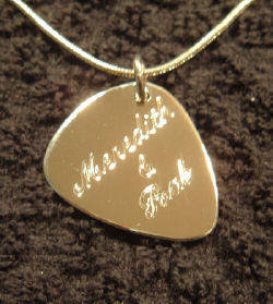 Custom imprinted guitar picks side hanging pick necklace samples below mozeypictures Image collections